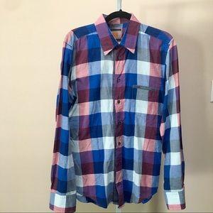 Hugo Boss Button Up Check Shirt (M)